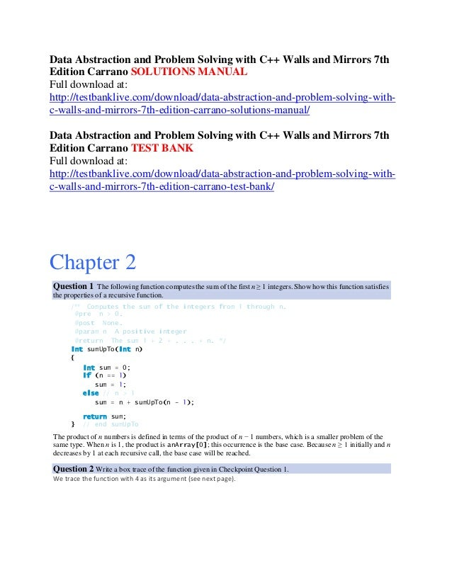 engineering problem solving with c++ solution manual