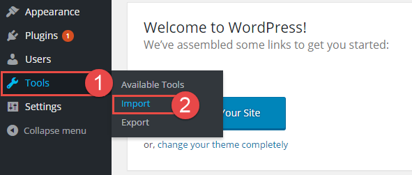how to import xml file in wordpress manually